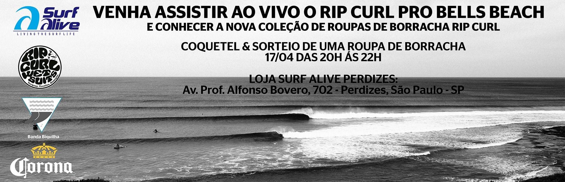 Lançamento das Roupas de Borracha Rip Curl na Surf Alive !
