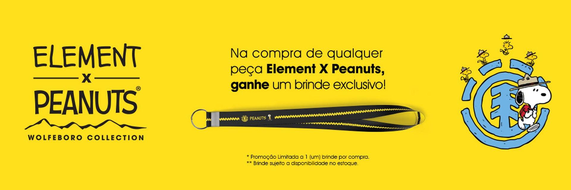 Compre um item da coleção Element X Peanuts e ganhe um cheiro