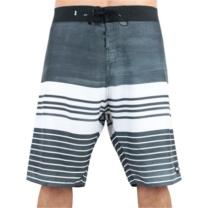 Bermuda Boardshort Extra Grande Wave Giant Old School Preta