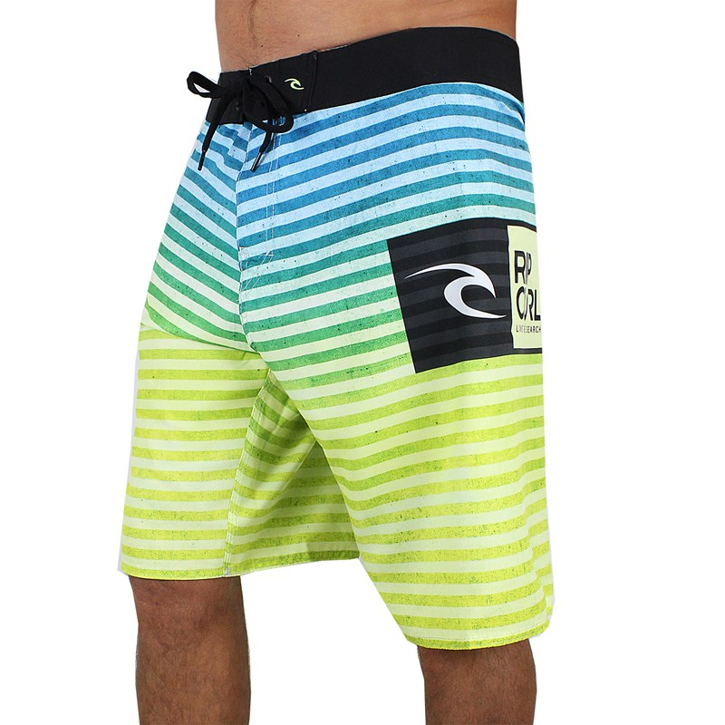 BERMUDA EXTRA GRANDE BOARDSHORTS RIP CURL DYE STRIPES BUTTON LIME