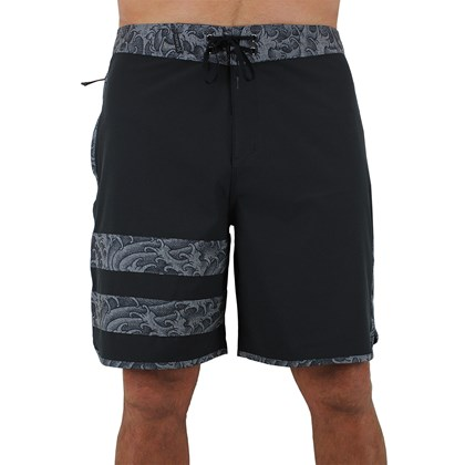 Bermuda Hurley Phantom Block Party Kenpai Black Grey