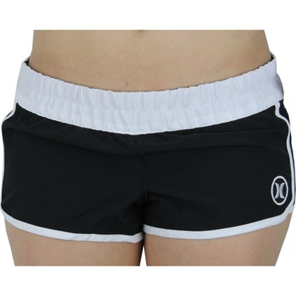 BOARDSHORTS HURLEY PHANTON P30 BLOCK PARTY PRETO E BRANCO