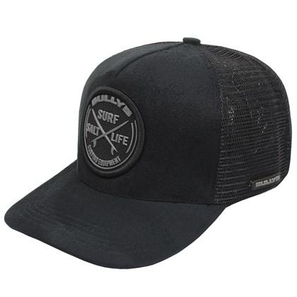 Boné Bully's Round Trucker Black
