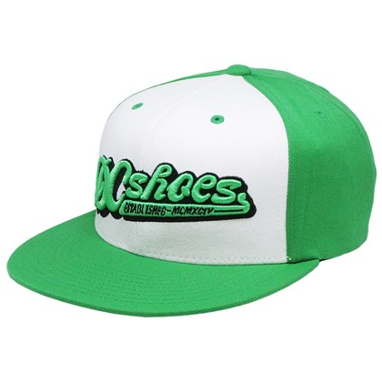 BONÉ DC SHOES SPORTAGE FLEXFIT VERDE E BRANCO