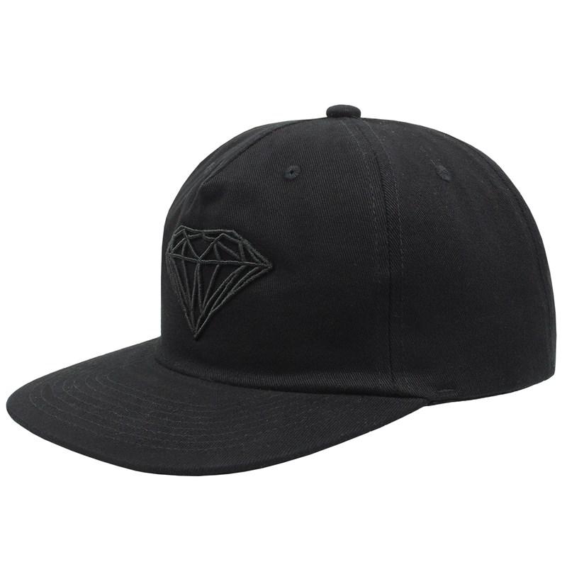 Boné Diamond Brilliant Unstruct Snapback Black