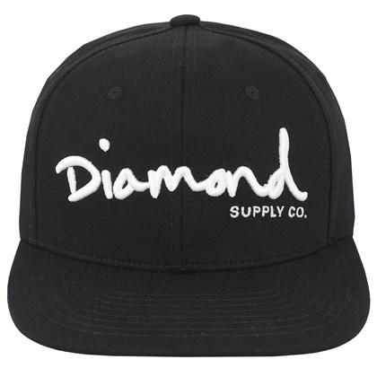 Boné Diamond OG Script Snapback Black