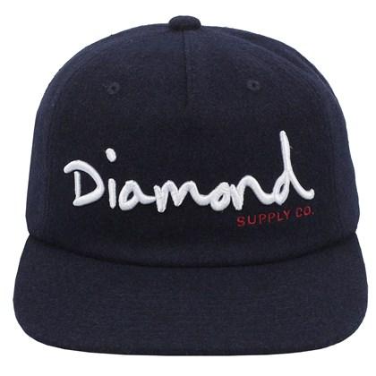 Boné Diamond OG Script Unconstructed Snapback Navy