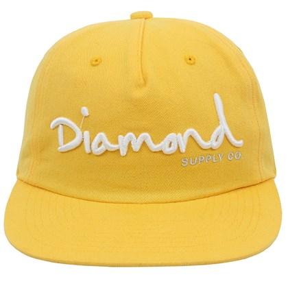 Boné Diamond OG Script Unstruct Snapback Banana