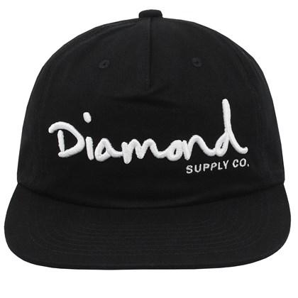Boné Diamond OG Script Unstruct Snapback Black