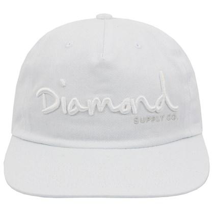 Boné Diamond OG Script Unstruct Snapback White