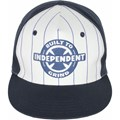 BONÉ INDEPENDENT RING TWILL HAT BRANCO E AZUL
