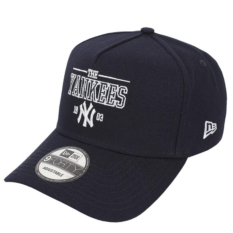 Boné New Era 9FortyA-Frame MLB New York Yankees College Navy