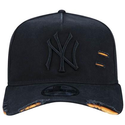 Boné New Era 9Forty Destroyed MLB New York Yankees Strapback Black