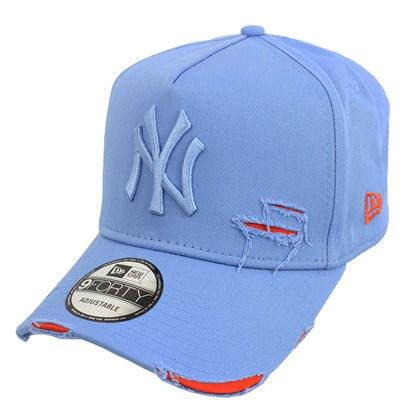 Boné New Era 9Forty Destroyed MLB New York Yankees Strapback Blue