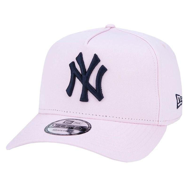 Boné New Era 9Forty MLB New York Yankees Snapback Rosa
