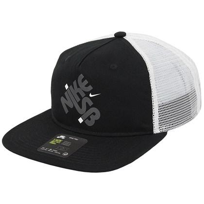 Boné Nike SB Pro Cap Trucker GFX Preto e Branco