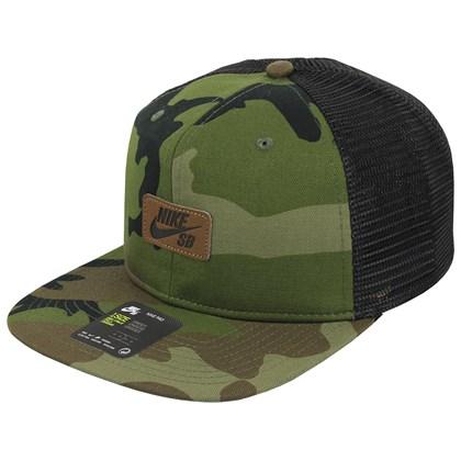Boné Nike SB Pro Trucker Camo Green Black