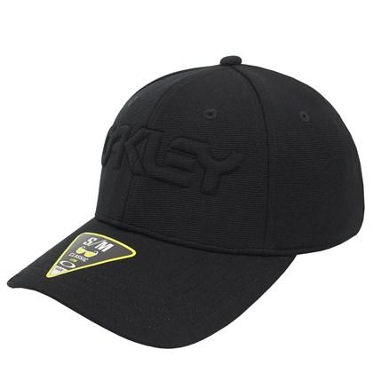 Boné Oakley 6 Panel Stretch Hat Embossed Blackout