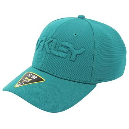 Boné Oakley 6 Panel Stretch Hat Embossed Green Lake