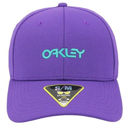 Boné Oakley 6 Panel Stretch Metallic Hat Deep Violet