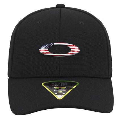 Boné Oakley Tincan Black American Flag