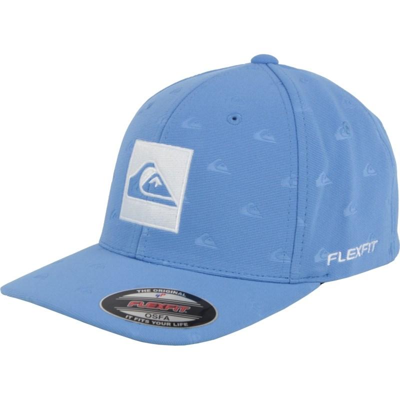 Boné Quiksilver Allover Quik Logo Flexfit Azul Importado