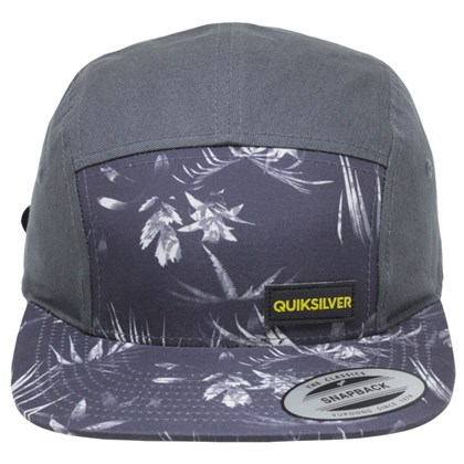 Boné Quiksilver Five Panel Off Set Strapback Stormy