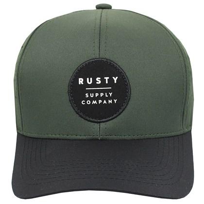 Boné Rusty Hole Snapback Olive