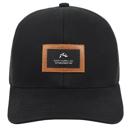 Boné Rusty Supply Trucker Black