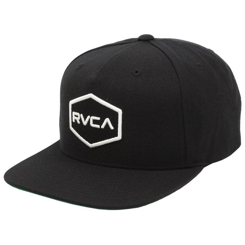 Boné RVCA Commonwealth Snapback Black White
