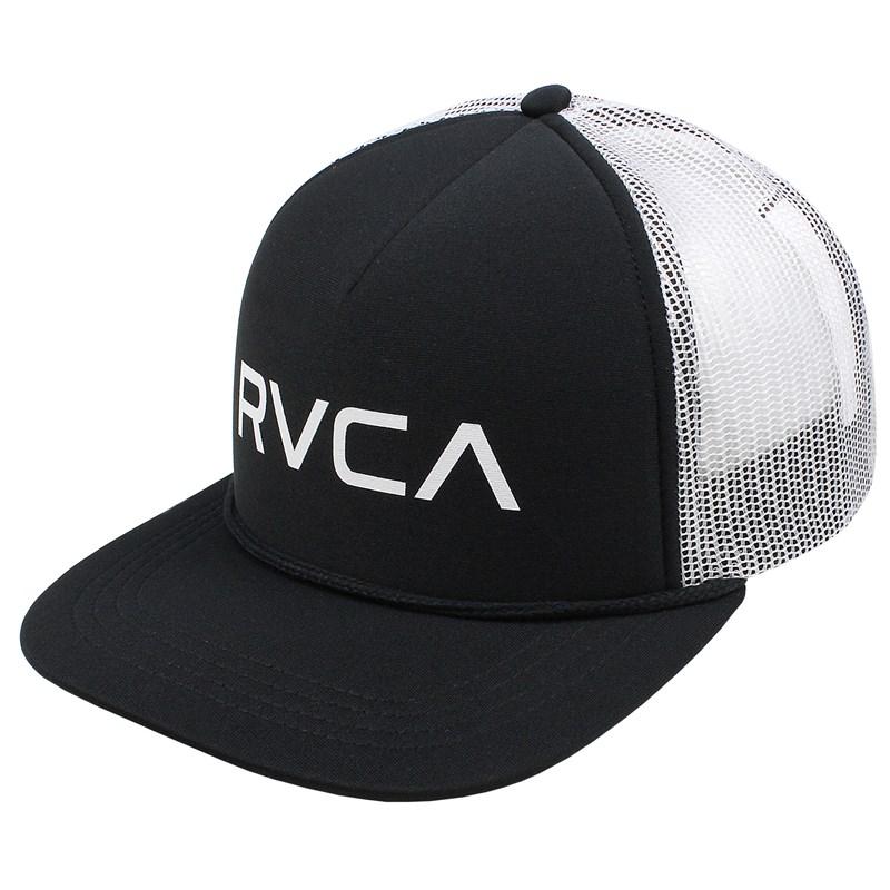 Boné RVCA Foamy Trucker Each Black White