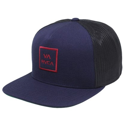 Boné RVCA Trucker All The Wal 3 Navy Red