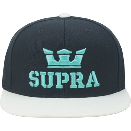 Boné Supra Above Snapback Black White