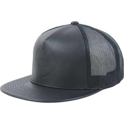 Boné Supra Laurel Leather Trucker Black