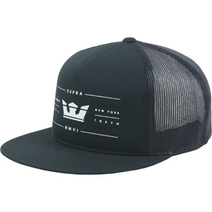 Boné Supra Renowned Trucker Black
