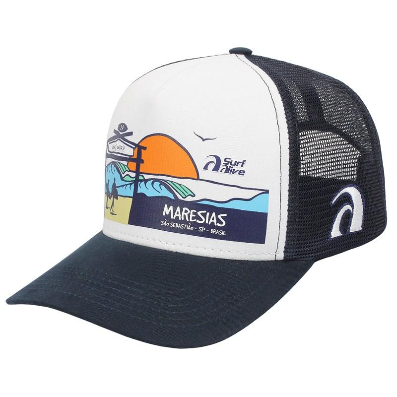 Boné Surf Alive Maresias Trucker Azul