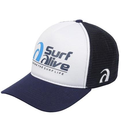 Boné Trucker Surf Alive Azul Marinho