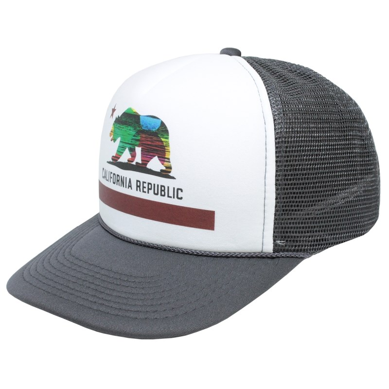 Boné Trucker Surf Alive California Republic Charcoal