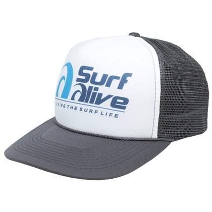Boné Trucker Surf Alive Charcoal ... 8a6a41fa38