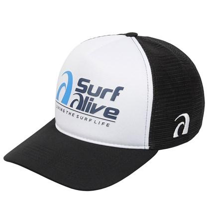 Boné Trucker Surf Alive Preto
