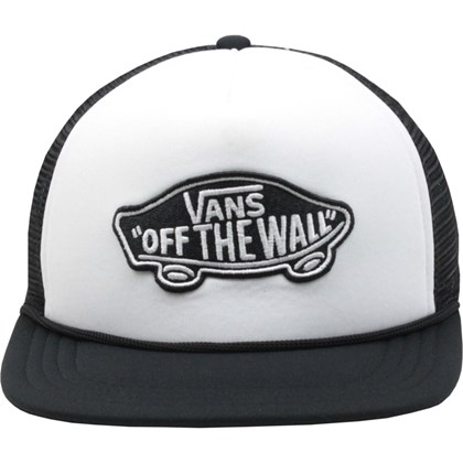 Boné Vans Classic Patch Trucker Black White