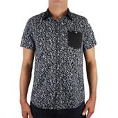 Camisa Hurley Rag Manga Curta Preta