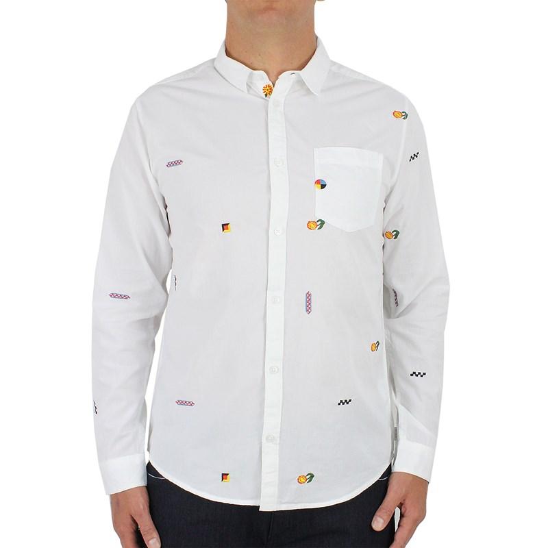 Camisa RVCA Manga Longa Luke Pelletier White