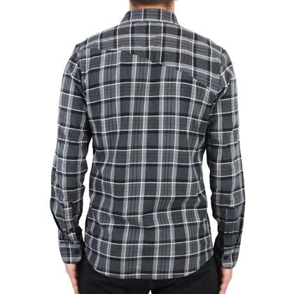 Camisa Volcom Gaines Manga Longa Asphalt Black