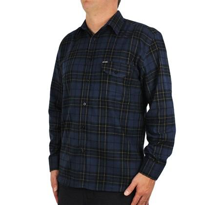 Camisa Volcom Manga Longa Plaid Enougt Azul Xadrez