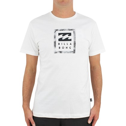 Camiseta B,illabong Stacked Stealth Off White