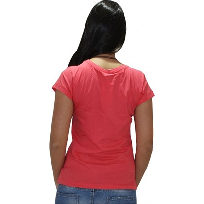 CAMISETA BABY LOOK ROXY LOVIN YOU CORAL
