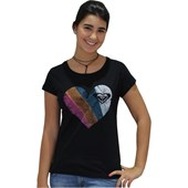 CAMISETA BABY LOOK ROXY LOVIN YOU PRETA