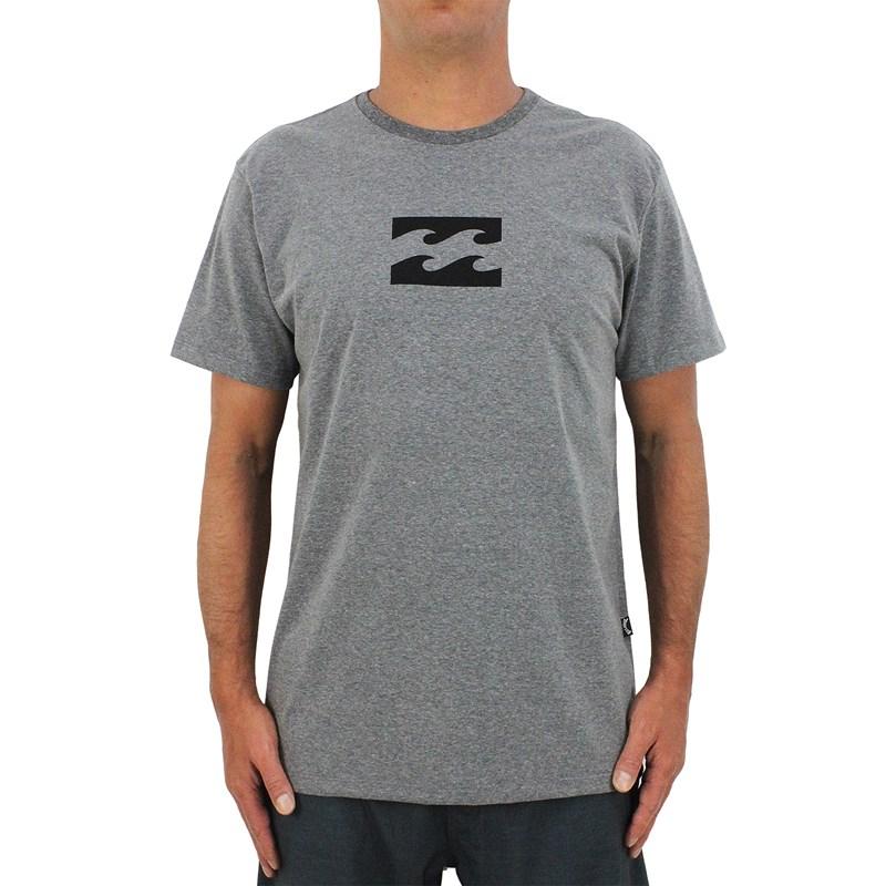 Camiseta Billabong All Day Wave Cinza Mescla