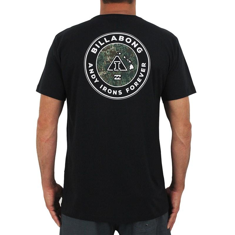 Camiseta Billabong Andy Irons Forever Preta